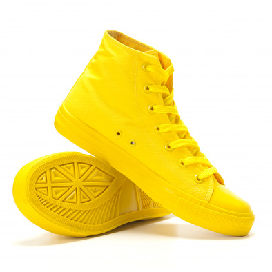 Teniși înalți galbeni pentru bărbați it260117-36 4