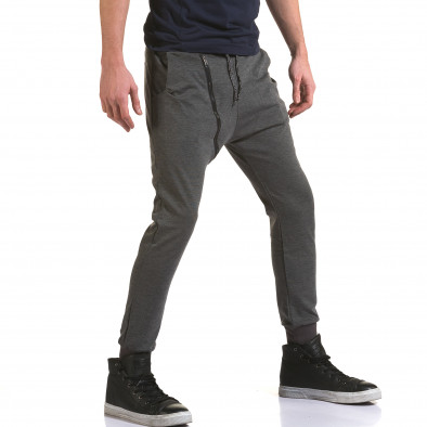 Pantaloni baggy bărbați Jack Berry gri it090216-49 4