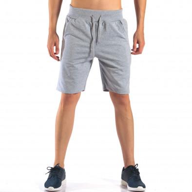 Pantaloni scurți bărbați Social Network gri it160616-8 2