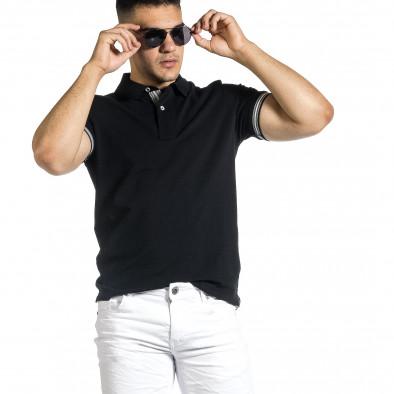 Tricou cu guler bărbați Baker's negru it150521-18 2