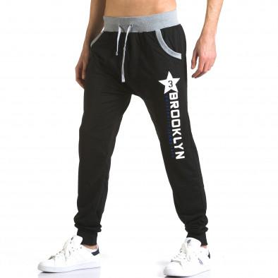 Pantaloni baggy bărbați Realman negri it110316-11 4