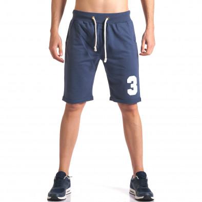 Pantaloni scurți bărbați New Men albaștri it260416-24 2