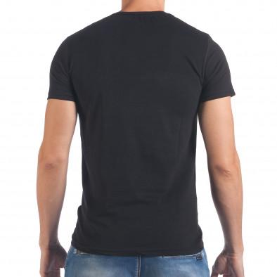Tricou bărbați Millionaire negru il060616-73 3