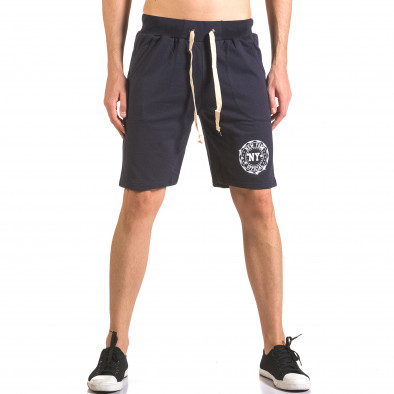 Pantaloni scurți bărbați Me & You albaștri ca050416-43 2