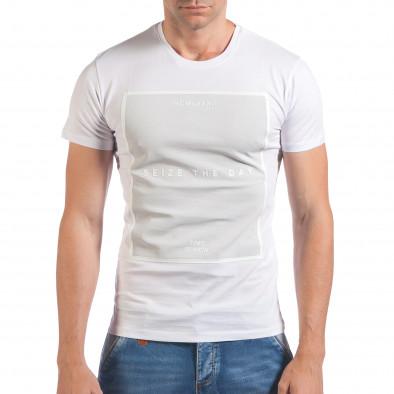 Tricou bărbați SAW alb il060616-28 2