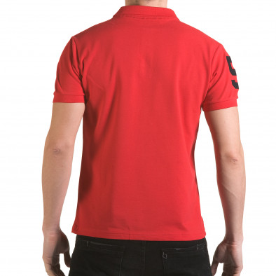 Tricou cu guler bărbați Franklin roșu il170216-24 3