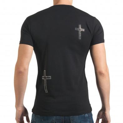 Tricou bărbați Berto Lucci negru il140416-9 3