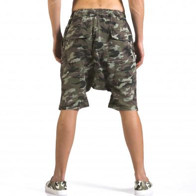 Pantaloni scurți bărbați Iabes Jeans camuflaj it110316-73 3