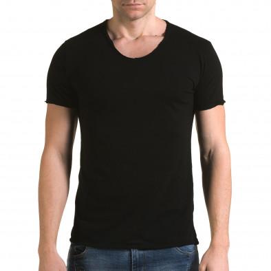 Tricou bărbați FM negru it090216-78 2