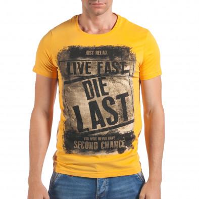 Tricou bărbați Just Relax galben il060616-15 2