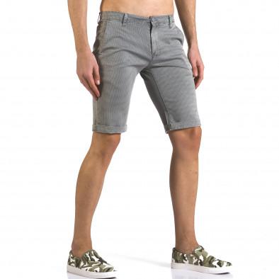 Pantaloni scurți bărbați Bruno Leoni gri it110316-50 4