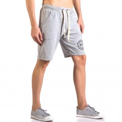 Pantaloni scurți bărbați Me & You gri ca050416-42 4