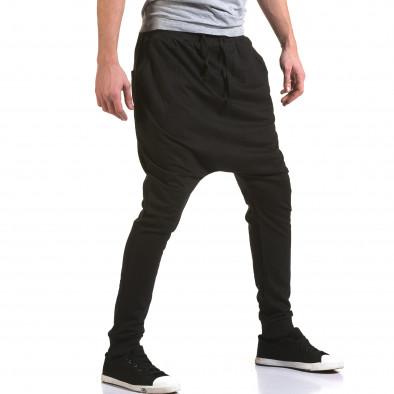 Pantaloni baggy bărbați Dress&GO negri it090216-35 4