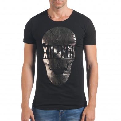 Tricou bărbați Eksi negru il060616-75 2