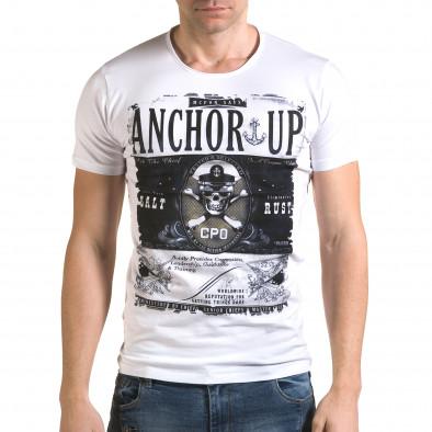 Tricou bărbați Lagos alb il120216-19 2