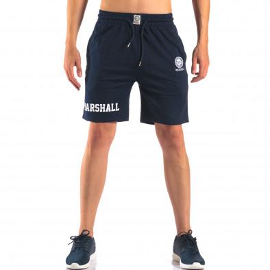 Pantaloni scurți bărbați Marshall albaștri it160616-3 2