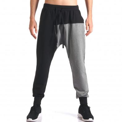 Pantaloni baggy bărbați FCSM negri it260416-39 2