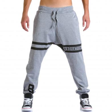 Pantaloni baggy bărbați Eadae Wear gri ca260815-29 2