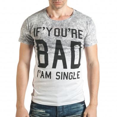 Tricou bărbați Lagos gri il140416-54 2