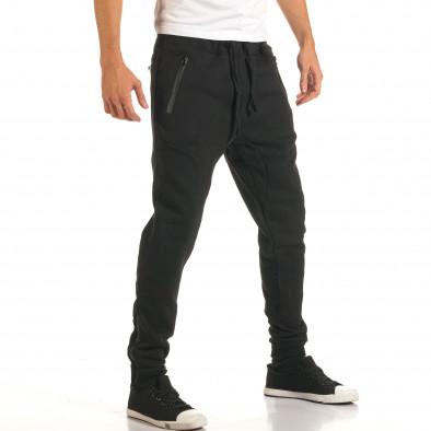 Pantaloni baggy bărbați Bread & Buttons negri it191016-12 4