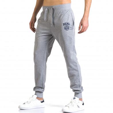 Pantaloni bărbați Marshall gri it110316-19 4