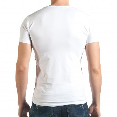 Tricou bărbați Berto Lucci alb il140416-7 3