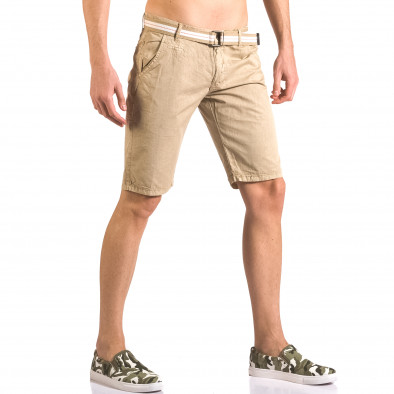 Pantaloni scurți bărbați Top Star bej ca050416-66 4
