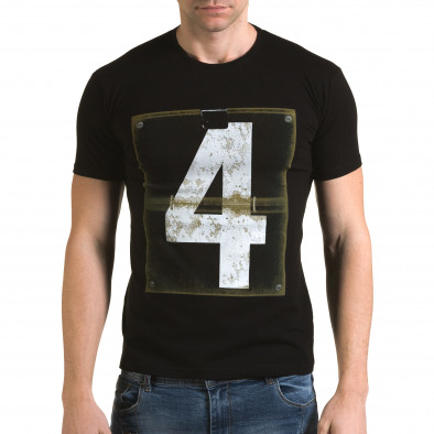 Tricou bărbați Lagos negru il120216-43 2