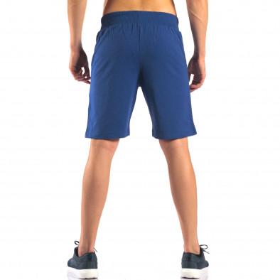 Pantaloni scurți bărbați Social Network albaștri it160616-7 3