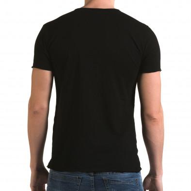 Tricou bărbați FM negru it090216-78 3