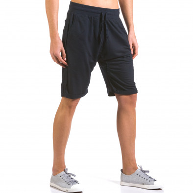 Pantaloni scurți bărbați Dress&GO albaștri it160316-23 4