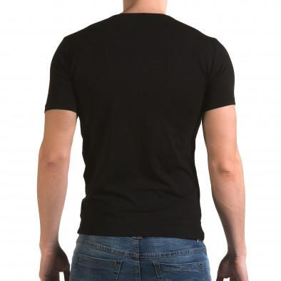 Tricou bărbați Lagos negru il120216-51 3