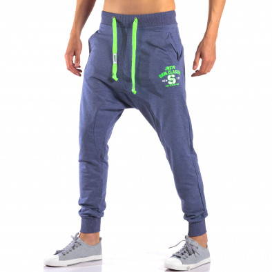 Pantaloni baggy bărbați New Star albaștri it140616-19 4