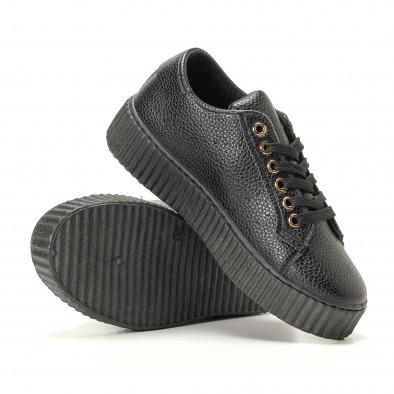 Teniși de dama Ideal Shoes neagră it200917-57 4