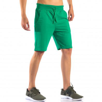 Pantaloni scurți bărbați Social Network verzi it160616-5 4