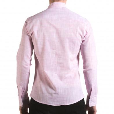 Cămașă cu mânecă lungă bărbați Buqra roz il170216-124 3