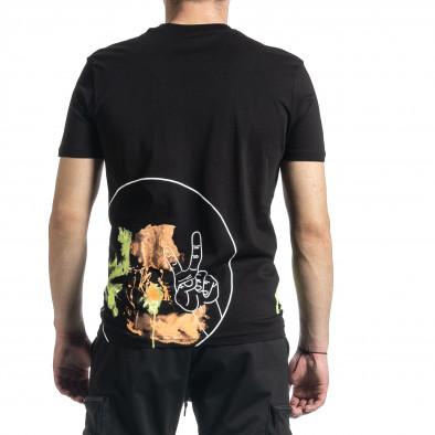 Tricou bărbați Breezy negru tr270221-37 3