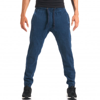 Pantaloni baggy bărbați Bread & Buttons albaștri it160816-35 4