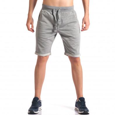 Pantaloni scurți bărbați New Men gri it260416-28 2
