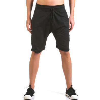 Pantaloni scurți bărbați Dress&GO negri it160316-24 2