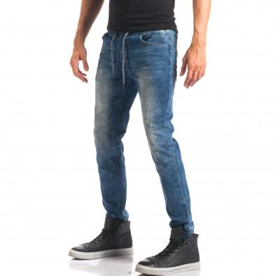 Blugi bărbați Leeyo Jeans albaștri it150816-24 4