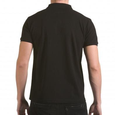 Tricou cu guler bărbați Franklin negru il170216-34 3