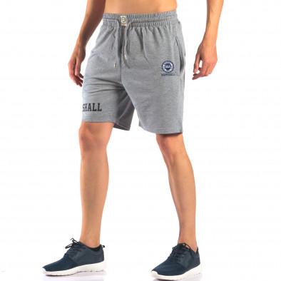 Pantaloni scurți bărbați Marshall gri it160616-4 4
