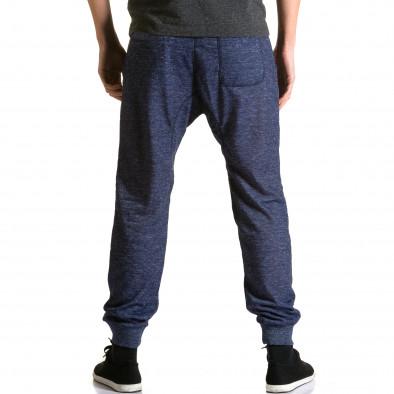 Pantaloni baggy bărbați Dress&GO albaștri ca190116-27 3