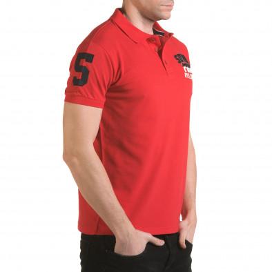 Tricou cu guler bărbați Franklin roșu il170216-24 4