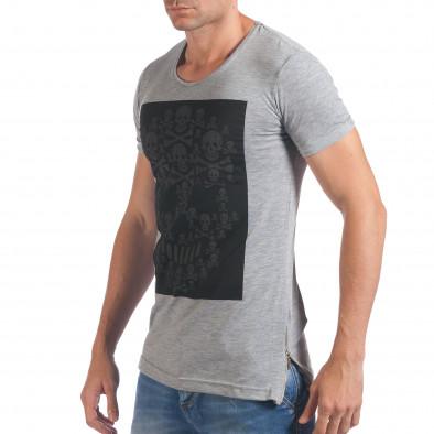 Tricou bărbați Eksi gri il060616-79 4