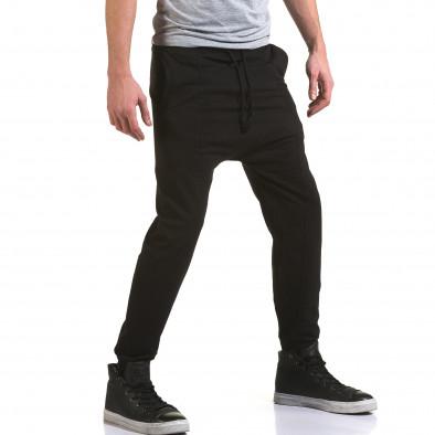 Pantaloni baggy bărbați FM negri it090216-62 4