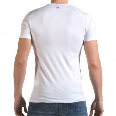 Tricou bărbați SAW alb il170216-57 3