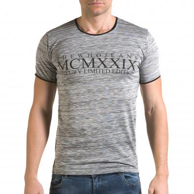 Tricou bărbați Lagos gri il120216-36 2