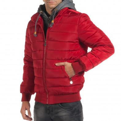 Geacă de iarnă bărbați ET9 roșie it190616-1 4